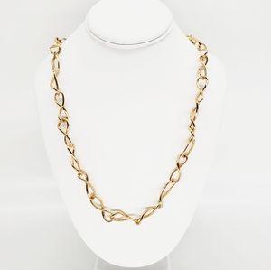 NWT RLM Gold Tone Twist Link Strand Necklace